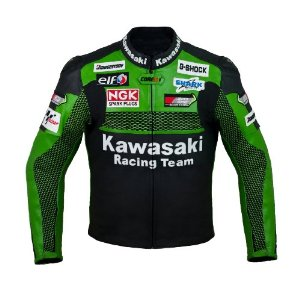 Kawasaki Motorbike Racing Leather Jacket