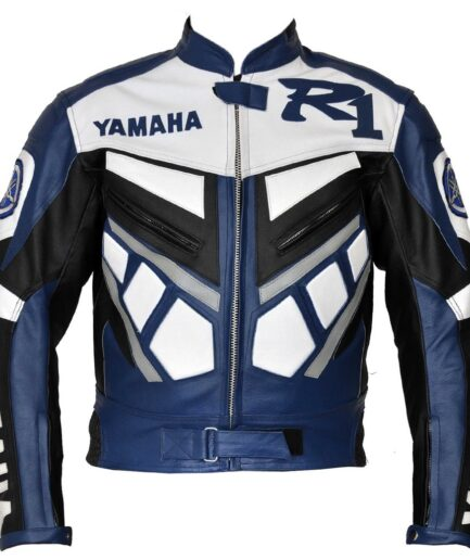 Yamaha R1 Branded Men Motorbike Leather Jacket