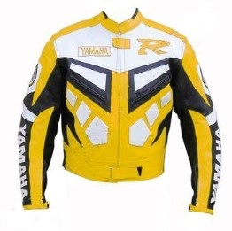 Yamaha R Biker Men Leather Jacket