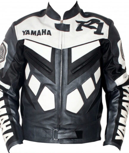 Yamaha R1 Motocycle Men Leather Jacket