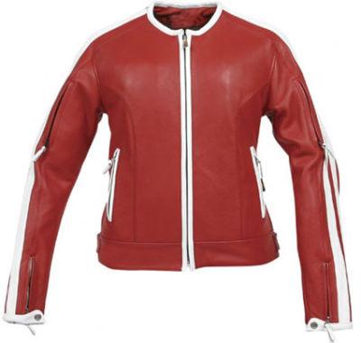 Women Motorbike Sport Leather Jacket