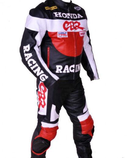 HONDA Motorbike Racing Leather Suit BSM 2961