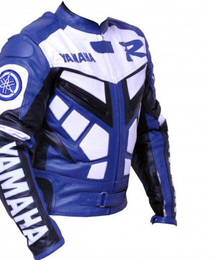 Yamaha R1 Motorcycle Leather Jacket BMJ2810