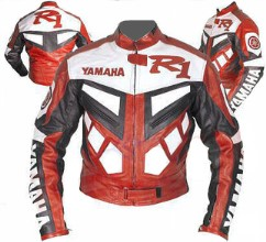 Yamaha R1 Motorbike Leather Jacket BMJ2813