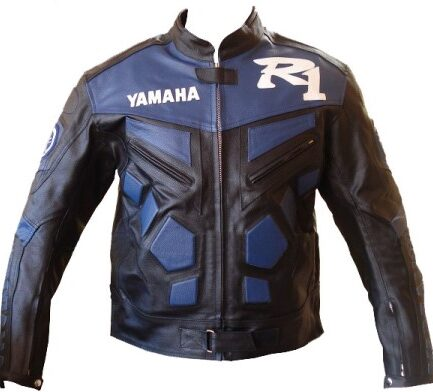 Yamaha R1 Motorbike Leather Jacket BMJ2815