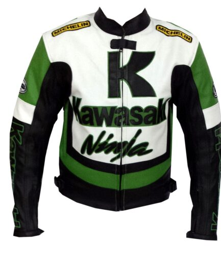Kawasaki Motorbike Leather Jacket BMJ 2610