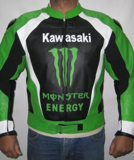 Kawasaki Biker Racing Leather Jacket BMJ 2615