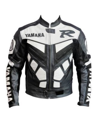 Yamaha R Branded Motorbike Leather Jacket