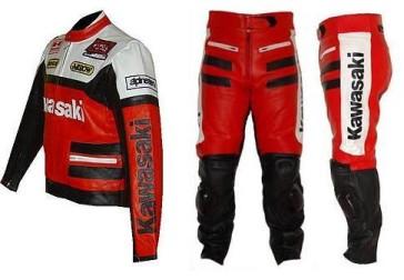 Kawasaki Motorcycle Leather Suit
