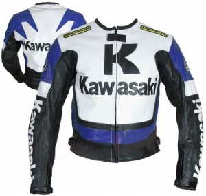 Kawasaki Men Racing Motorbike Leather Jacket BMJ 2604