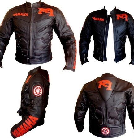 Yamaha R1 Motorbike Men Racing Leather Jacket