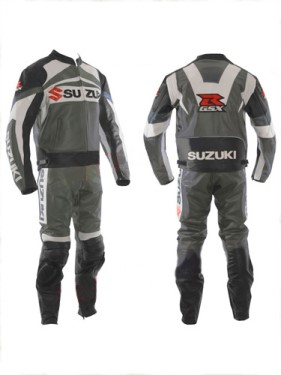 SUZUKI GSXR Branded Motorcycle Leather Suit