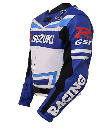 Suzuki GSXR Motorbike Leather Jacket