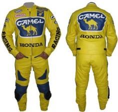 HONDA Motorbike Racing Leather Suit BSM 2966