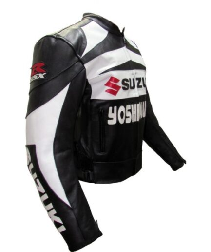Suzuki Branded Men Motocycle Leather Jacket