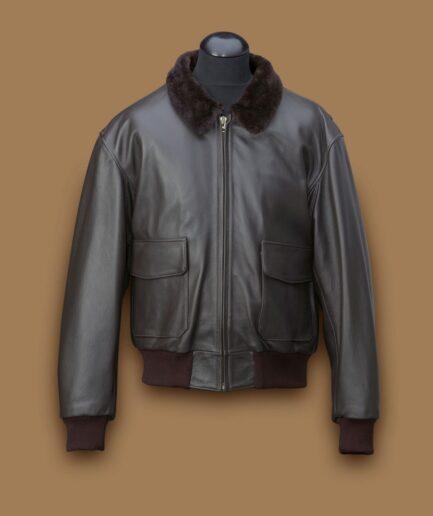Men Black Airforce Leather Jacket