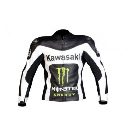 Kawasaki Motorcycle Leather Jacket BMJ 2616