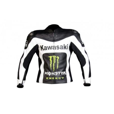 Kawasaki Motorcycle Leather Jacket BMJ 2616