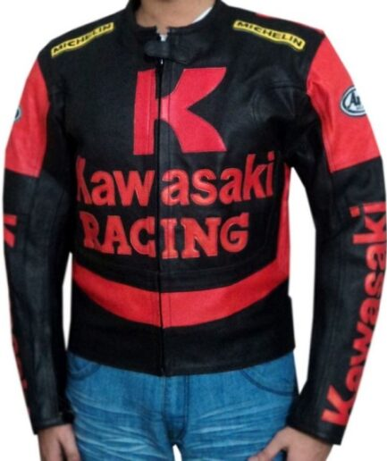 Kawasaki Branded Motorbike Leather Jacket BMJ 2605
