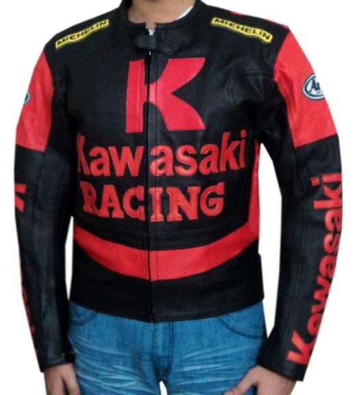 Kawasaki Branded Motorbike Leather Jacket BMJ 2605