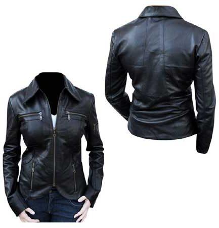 Women Motorcycle Leather Jacket