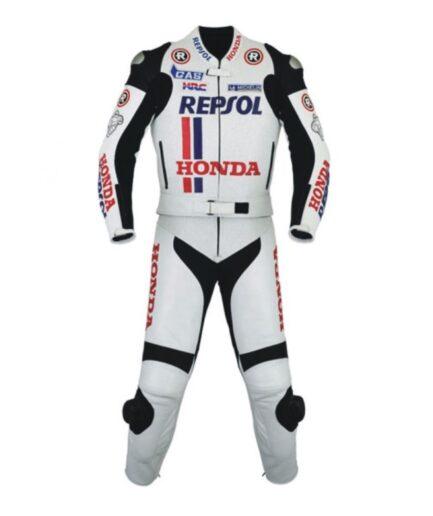 HONDA Repsol Motorcycle Men Leather Suit