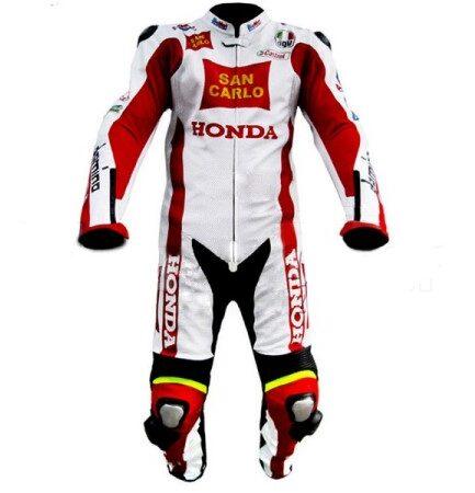 HONDA Motorbike Sport Leather Suit