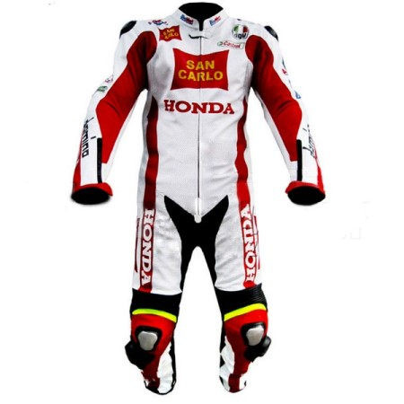 HONDA Motorbike Sport Leather Suit