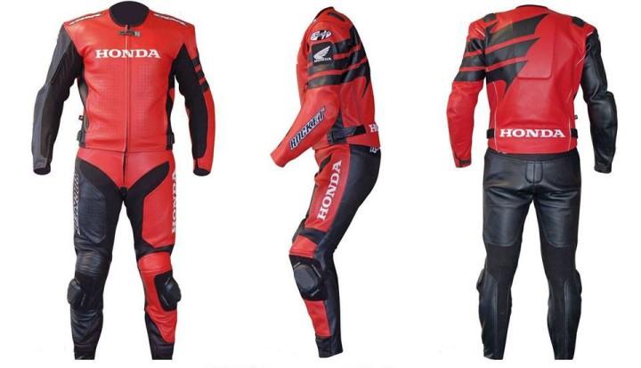 HONDA Motorbike Men Leather Suit BSM 2967