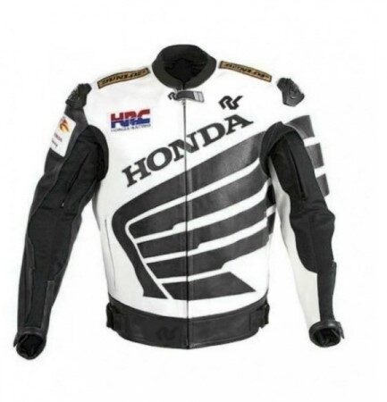 HONDA Motorbike Men Leather Jacket BMJ2933