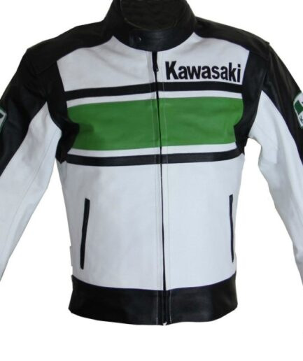 Kawasaki Motorcycle Racing Leather Jacket