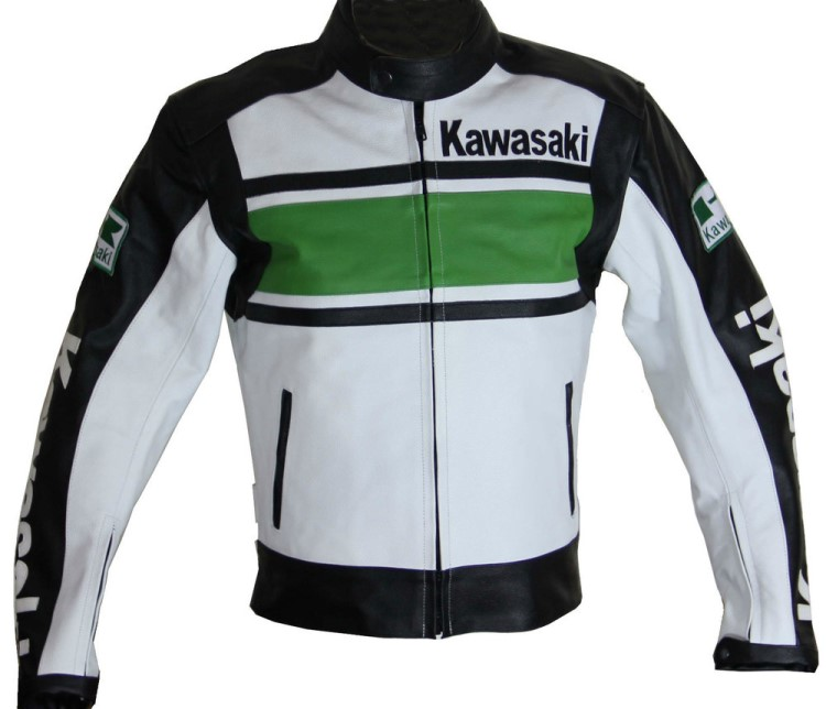 Kawasaki Motorcycle Racing Leather Jacket
