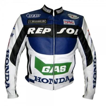 HONDA Repsol GAS Motorcycle Leather Jacket