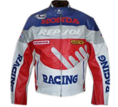 HONDA Motorbike Racing Leather Jacket