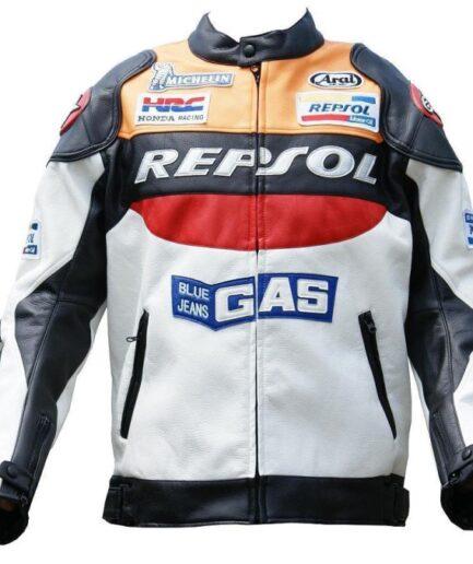 HONDA Repsol GAS Motorbike Leather Jacket