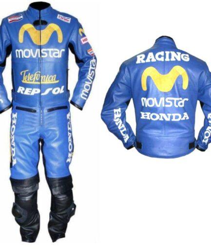 HONDA Repsol Motorbike Racing Leather Suit BSM 2970