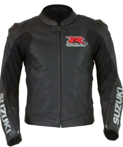 Suzuki Branded Men Motorbike Leather Jacket