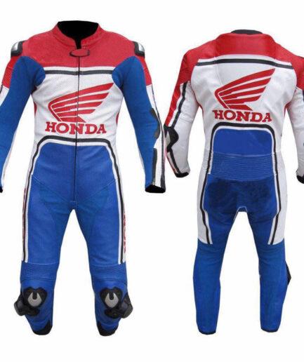 HONDA Motorcycle Racing Leather Suit BSM 2977