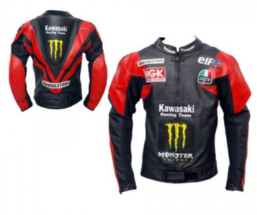 Kawasaki Biker Racing Leather Jacket