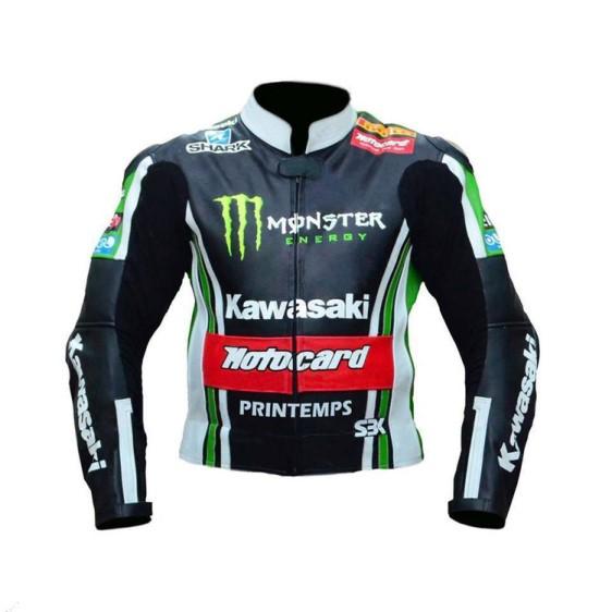 Kawasaki Motorcycle Leather Jacket BMJ 2630