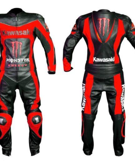 Kawasaki Motorcycle Leather Suit Bsm 2671