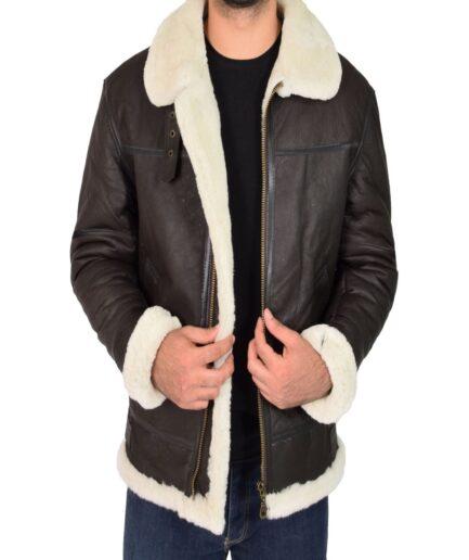 Men B3 Sheepskin Leather Jacket