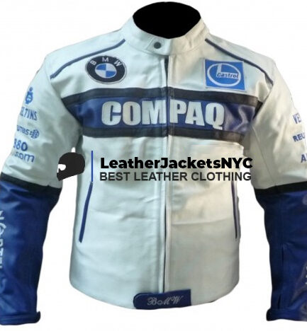 BMW COMPAQ Motorcycle Leather Jacket