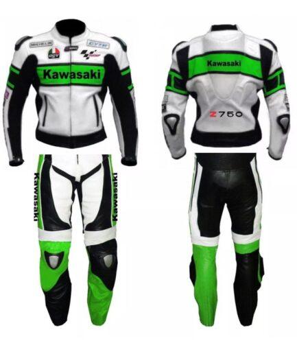 Kawasaki Motorbike Leather Suit Bsm 2677