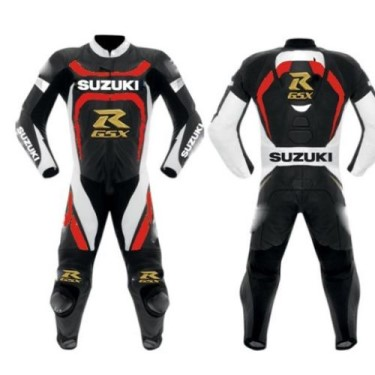 SUZUKI Motorbike Racing Leather Suit BSM 2776