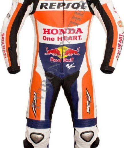 HONDA Repsol Motorbike Men Leather Suit