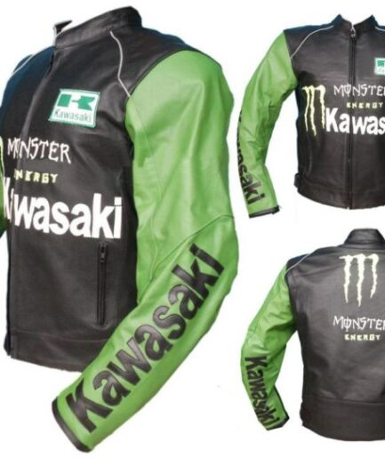 Kawasaki Motorcycle Leather Jacket