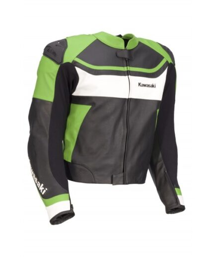 Kawasaki Men Motorbike Leather Jacket