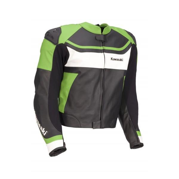 Kawasaki Men Motorbike Leather Jacket