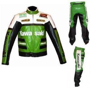 Kawasaki Motorbike Sport Leather Suit Bsm 2655